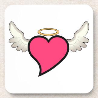 Winged Heart Beverage Coaster