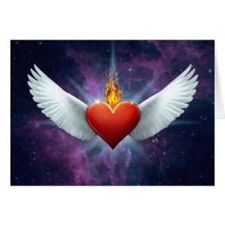 Winged Heart Card