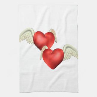 Winged Heart Kitchen Towel