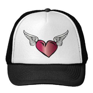 Winged Heart - Love Romance Wings Hats