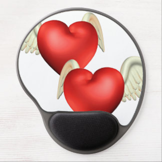 Winged Hearts Gel Mouse Pads