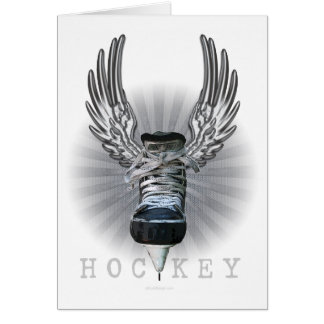 Winged Hockey Card