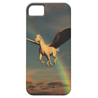 Winged horse and rainbow barely there iPhone 5 case