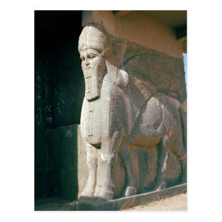 Winged human-headed bull, Neo-Assyrian Period Postcard