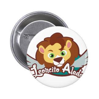Winged Leoncito 6 Cm Round Badge
