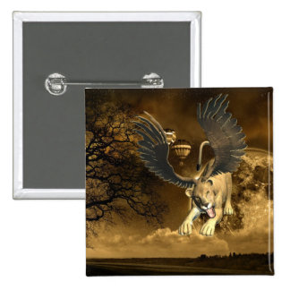 Winged Lioness  Button