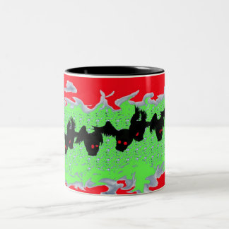 Winged madness hot beverage containers Two-Tone mug