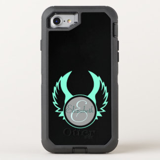 Winged Monogram OtterBox Defender iPhone 8/7 Case