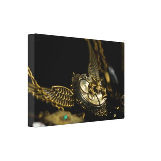 Winged Necklace Stretched Canvas Print
