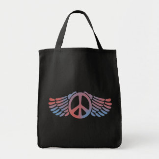 Winged Peace Grocery Tote Bag