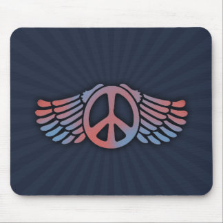 Winged Peace Mouse Pad