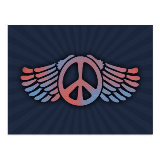 Winged Peace Post Card