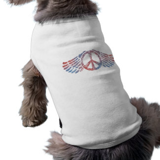 Winged Peace Symbol Doggie T Shirt