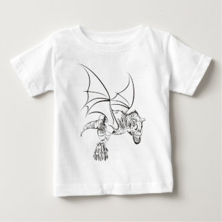 Winged Raptor / Tribal Baby T-Shirt