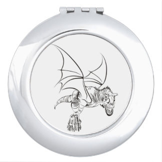 Winged Raptor / Tribal Compact Mirror