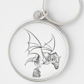 Winged Raptor / Tribal Key Ring