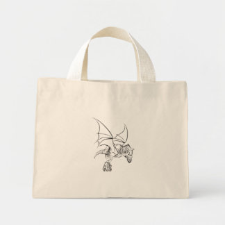 Winged Raptor / Tribal Mini Tote Bag