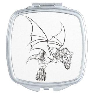 Winged Raptor / Tribal Travel Mirror
