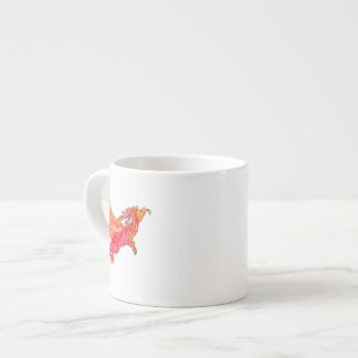 Winged Red Dragon Espresso Cup