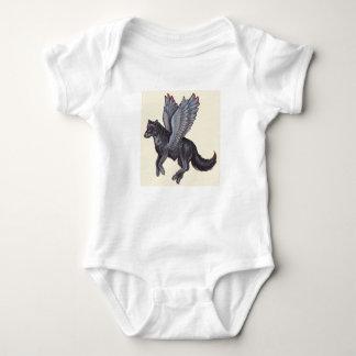 Winged Royal Wolf Baby Bodysuit