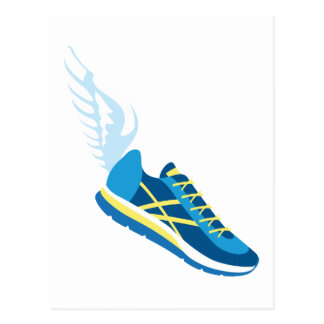 Winged Running Shoe Postcard