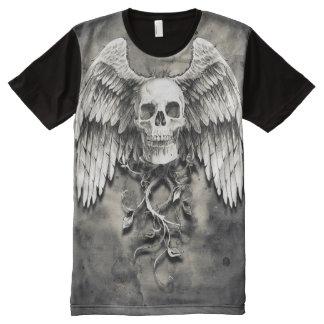 Winged Skull All-Over Print T-Shirt