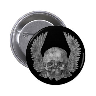 Winged Skull Button