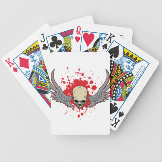 Winged-Skull Bicycle Playing Cards