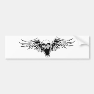 winged skull Bumper Sticker