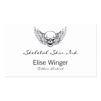 Winged Skull Business Cards