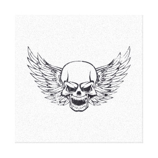 Winged Skull Canvas Print