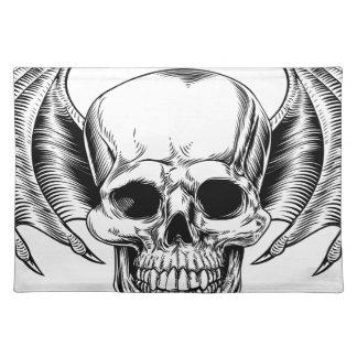 Winged Skull Grim Reaper Placemat