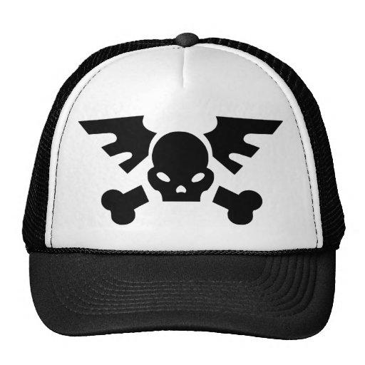 Winged Skull Mesh Hat