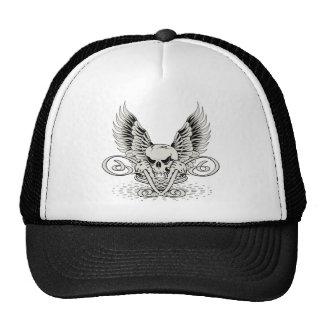 Winged Skull Mesh Hats