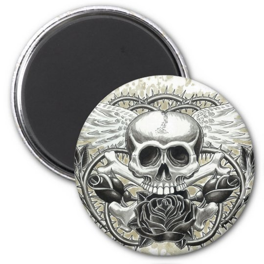 Winged Skull Magnet