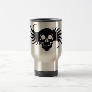Winged Skull Stainless Steel Travel Mug