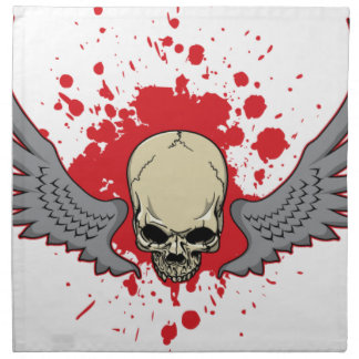 Winged-Skull Napkin