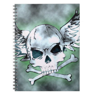 Winged Skull Notebook
