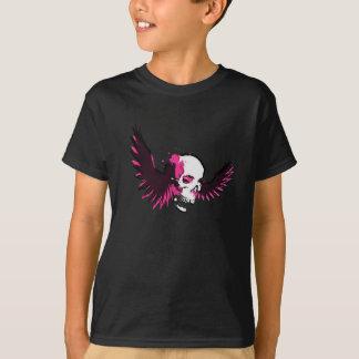 Winged Skull Pink Aura T-Shirt