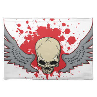 Winged-Skull Placemat