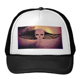 WINGED SKULL PSYCHEDELIC THERMAL PRINT HAT