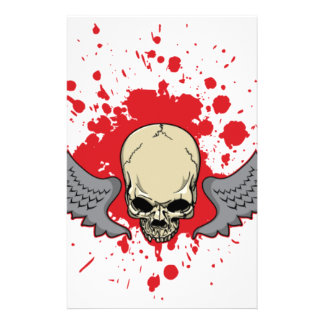 Winged-Skull Stationery
