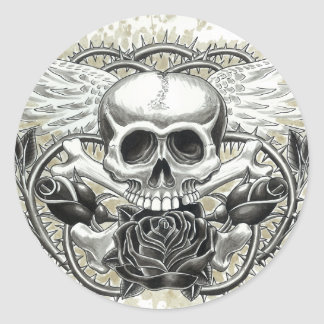 Winged Skull Stickers