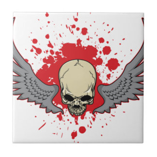 Winged-Skull Tile