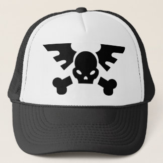 Winged Skull Trucker Hat