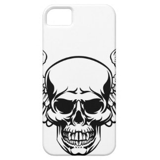 Winged Skull Vintage Engraved Woodcut Style iPhone 5 Covers
