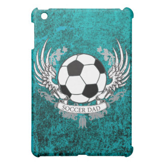 Winged Soccer Dad Teal Distressed Stone Case iPad Mini Cover