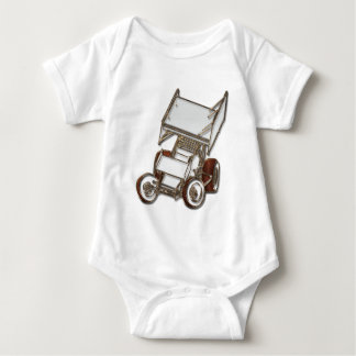 Winged Sprint Car White Colored Tee Shirt