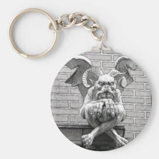 Winged Stone Gargoyle Key Ring