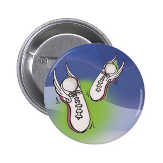 Winged Tennis Shoes 6 Cm Round Badge